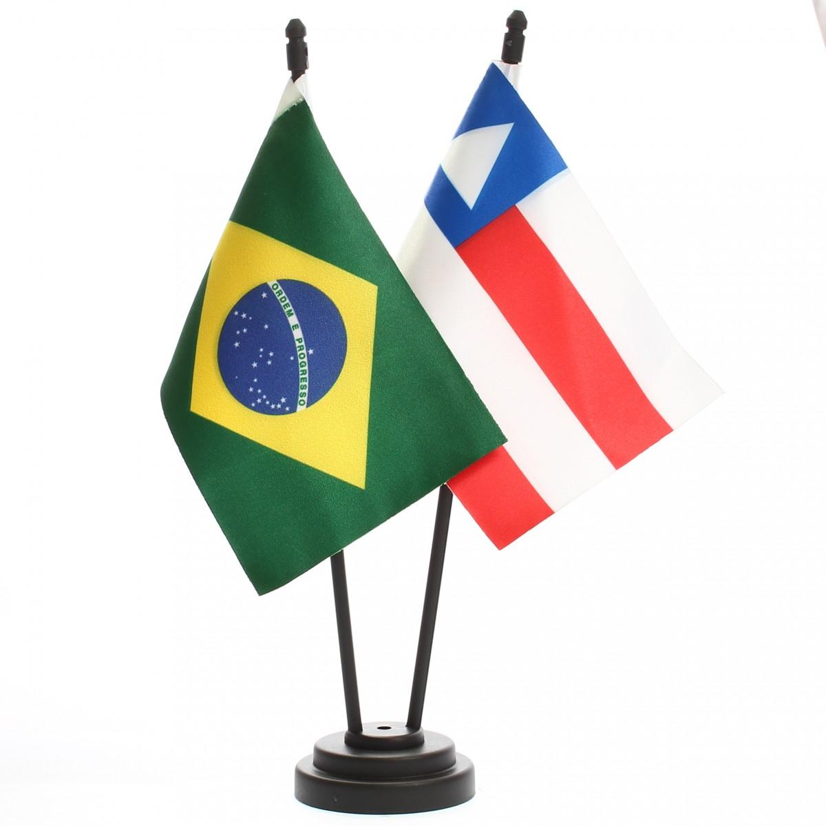 Brasil + Estados Brasil e Bahia | Bandeira Shop