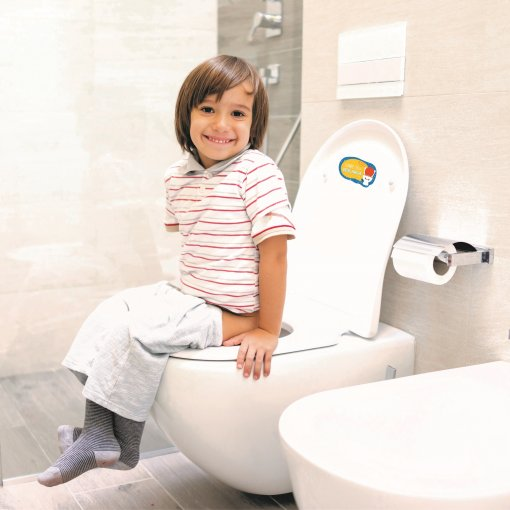 Adesivo Lembrete de Higiene - Dê a Descarga e Lave as Mãos