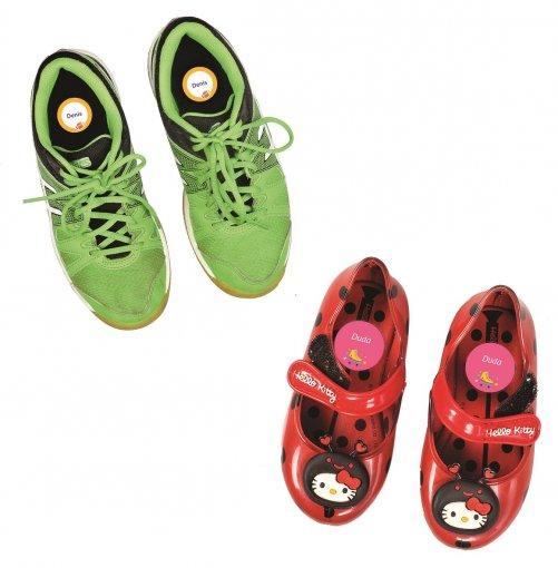 Adesivo para Identificar Sapatos - Esportes e Diversão