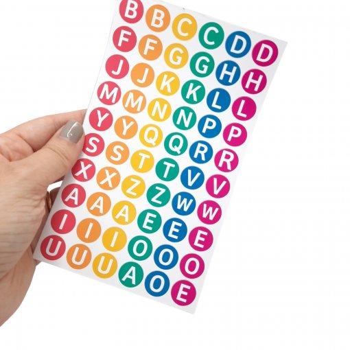 Adesivos Letrinhas | Alfabetização e Identificação de pertences