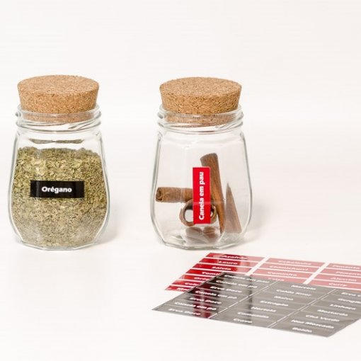 Adesivos para Organizar Chás, Temperos e Especiarias