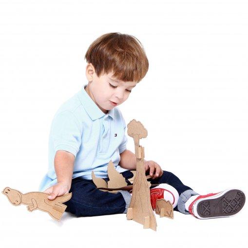 Brinquedo de Papelão - Dinossauros