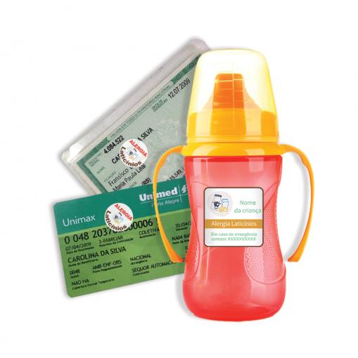 Etiqueta de Alerta - Alergia Laticínios