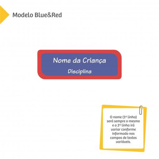 Adesivos com Nome e Disciplina - Color