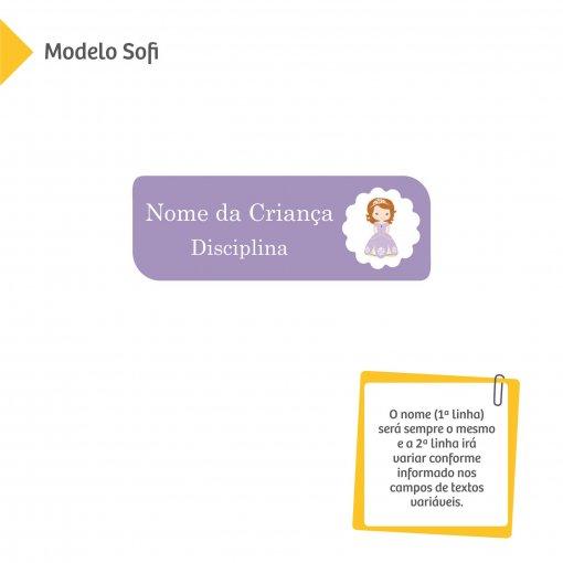 Etiqueta Escolar para Livros e Cadernos (Nome e Disciplina) - Meninas e Princesas