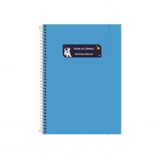 Etiqueta Escolar para Livros e Cadernos (Nome e Disciplina) - Meninos e Personagens