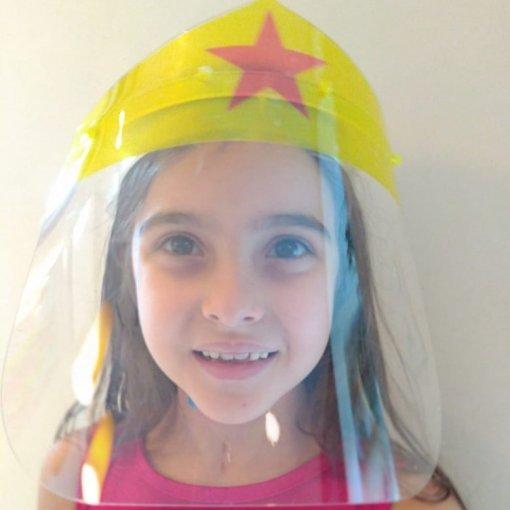 Face Shield Infantil - Mulher Maravilha (Máscara de Proteção Facial)