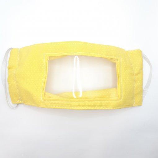 Máscara Inclusiva - Para pessoas com deficiência auditiva