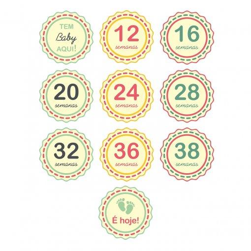 Mesversário: Adesivos Semanas de Gravidez