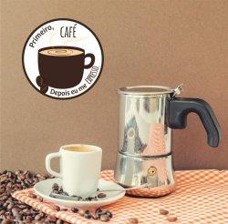 Adesivo de Parede - Primeiro Café depois eu me Expresso