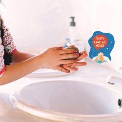 Imagem - Adesivo Lembrete de Higiene - Lave as Mãos cód: 958