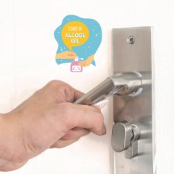 Imagem - Adesivo Lembrete de Higiene - Use Álcool Gel cód: 957