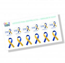 Imagem - Adesivo para Identificação – Síndrome de Down cód: 2076