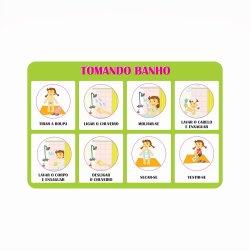 Imagem - Adesivo Passo a Passo - Tomando Banho - v1176