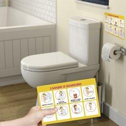 Imagem - Adesivo Passo a Passo - Usando o banheiro cód: 682
