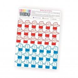 Adesivos de Incentivo - Botão Curtir