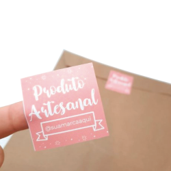 Imagem - Adesivos para Embalagem - Produto Artesanal cód: 2044