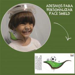 Imagem - Adesivos para Personalizar Face Shield: Campo Futebol cód: 1225