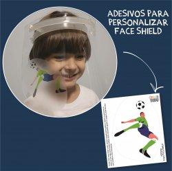 Imagem - Adesivos para Personalizar Face Shield: Gol cód: 1222