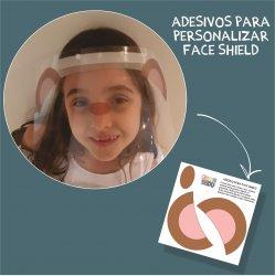 Imagem - Adesivos para Personalizar Face Shield: Macaco cód: 1208
