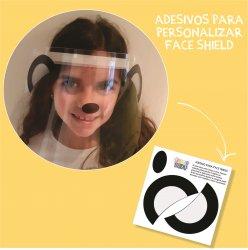 Imagem - Adesivos para Personalizar Face Shield: Panda cód: 1189