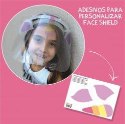 Imagem - Adesivos para Personalizar Face Shield: Unicórnio cód: 1188