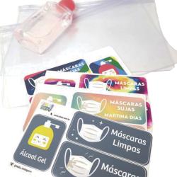 Imagem - Adesivos Personalizados + Saquinhos Porta Máscara - Color cód: 2130