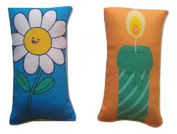 Imagem - Almofadas para exercício de Respiração - A Vela e a Flor cód: 793