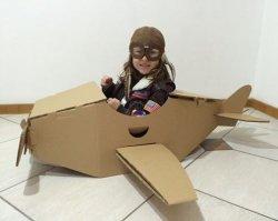 Imagem - Avião de Papelão cód: 391