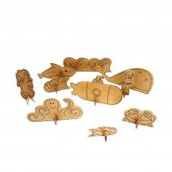 Imagem - Brinquedo de Papelão - Fundo do Mar cód: 1060