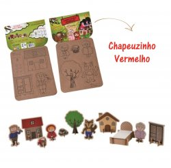 Imagem - Brinquedo de Papelão - História da Chapeuzinho Vermelho cód: 1055