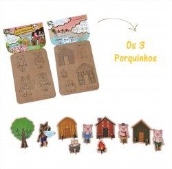 Imagem - Brinquedo de Papelão - História dos Três Porquinhos cód: 392