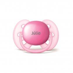 Imagem - Chupeta Personalizada AVENT| 6 a 18 meses | Rosa | Modelo Ultra Soft cód: 2392