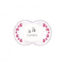 Imagem - Chupeta Personalizada MAM| + 6 meses Tam. 2 | Borda Transparente com rosa cód: 2351