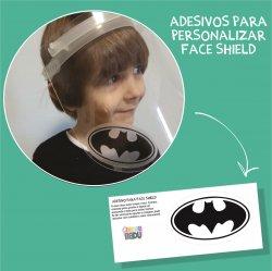 Imagem - Adesivos para Personalizar Face Shield: Batman cód: 1223