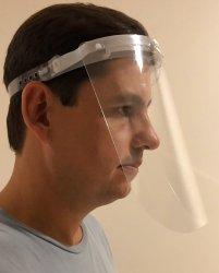 Imagem - Face Shield Adulto - Visor Rebatível- Máscara de Proteção Facial cód: 1764