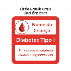 Imagem - Etiqueta de Alerta - Diabetes cód: 358