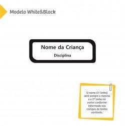 Etiqueta Escolar para Livros e Cadernos (Nome e Disciplina) - Color