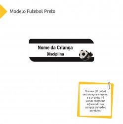 Etiqueta Escolar para Livros e Cadernos (Nome e Disciplina) - Futebol