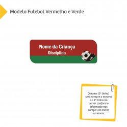 Adesivos com Nome e Disciplina - Futebol