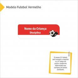 Imagem - Etiqueta Escolar para Livros e Cadernos (Nome e Disciplina) - Futebol - v1696