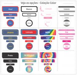 Imagem - Etiquetas Escolares | Color | Kit Mega cód: 1558