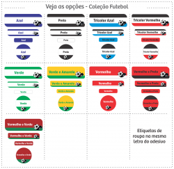 Imagem - Etiquetas Escolares | Futebol | Kit Médio cód: 1123