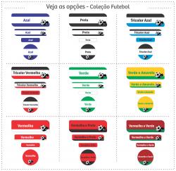 Imagem - Etiquetas Escolares   Futebol   Kit Super cód: 1132