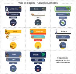 Imagem - Etiquetas Escolares | Meninos | Kit Médio cód: 1602
