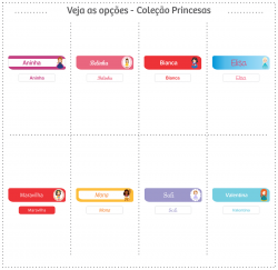 Etiquetas Escolares | Princesas | P e Mini