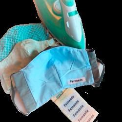 Etiquetas para roupas termocolantes (iron-on) - Ed. Especial Covid-19 - Cartela com 5