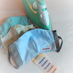 Imagem - Etiquetas para máscaras de tecido termocolantes (iron-on) - Ed. Especial - Cartela com 5 cód: 1054