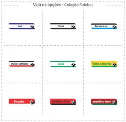 Imagem - Etiquetas Termocolantes para Roupas e Tecidos - Futebol cód: 2286