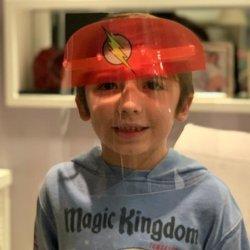 Imagem - Face Shield Infantil - Flash (Máscara de Proteção Facial) cód: 1245